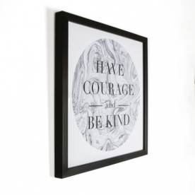 Rámovaný obraz 102499, Have Courage Framed Print, Wall Art, Graham Brown