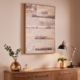 Rámovaný obraz Rose Gold Quartz Dimension 104020, Wall Art, Graham Brown