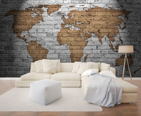Vlies photo mural wallpaper 22107, Cihla, 368 x 280 cm, Photomurals, Vavex