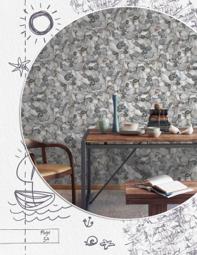 Non-woven wallpaper for wall 8500-4, Pebbles ,Vavex 2021