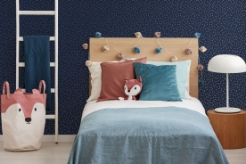 Non-woven wallpaper Polka dots, 108561, Confetti Navy Copper, Kids@Home 6, Graham & Brown
