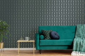 Luxury non-woven wallpaper with a vinyl surface 111313, Jewel, Graham & Brown, Geometry, Vavex