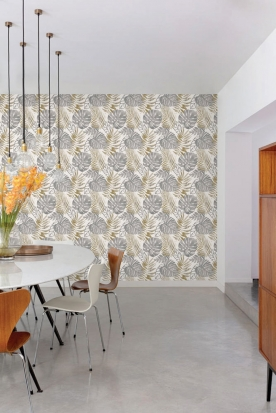 Non-woven washable wallpaper Leaves GT3301, Vavex 2022