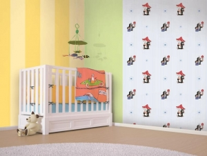 Children´s paper wallpaper 6080003, Little Mole, Vavex