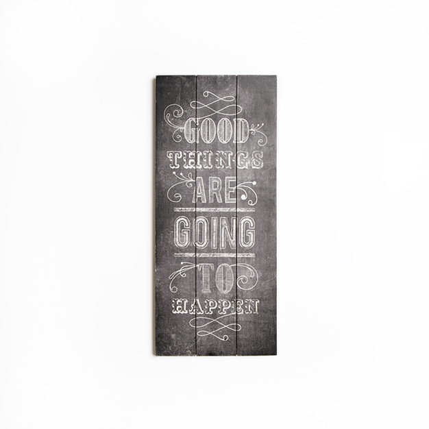 Dřevotisk 42-243, Good Things Print On Wood, Wall Art, Graham Brown