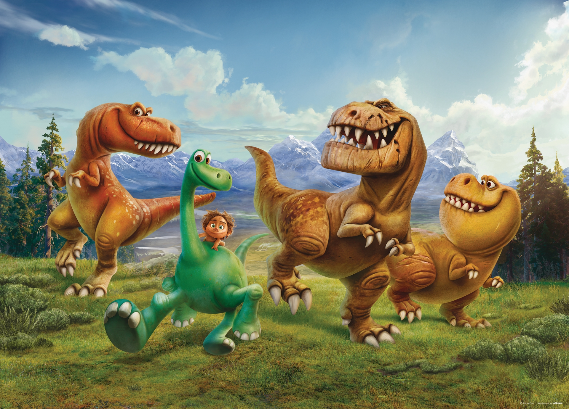 Obrazová tapeta FTD M 0735, Disney, The Good Dinosaur,  160 x 115 cm , AG Design