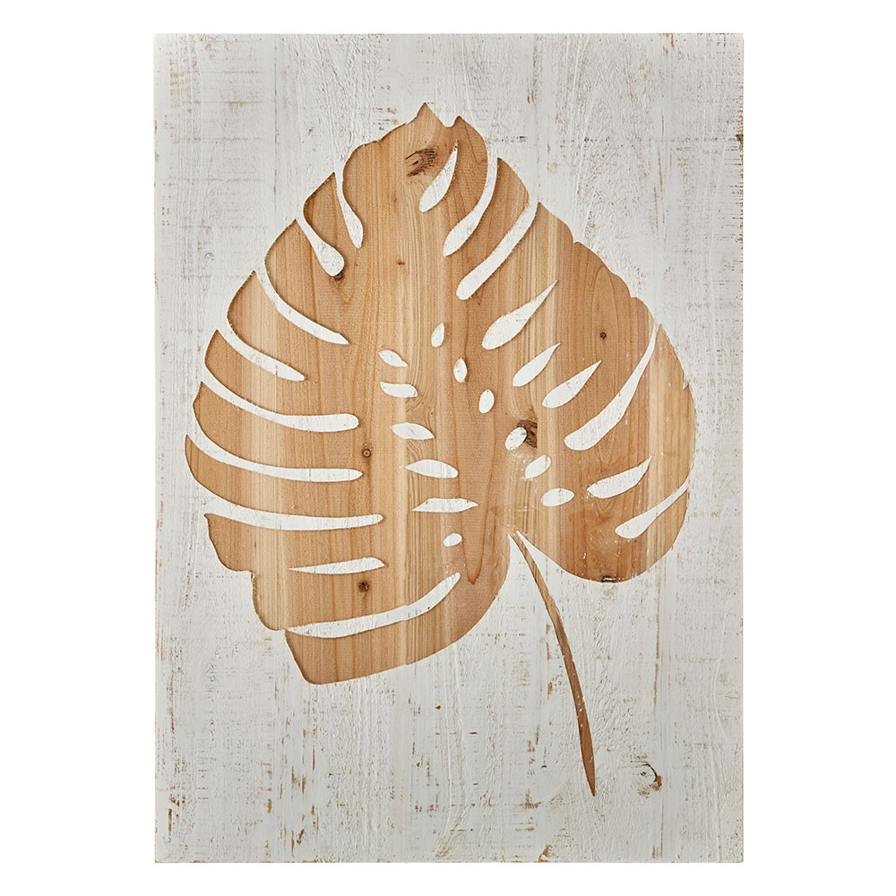 Dekorace Tropical Leaf Impression Wood Panel 103412, Wall Art, Graham Brown