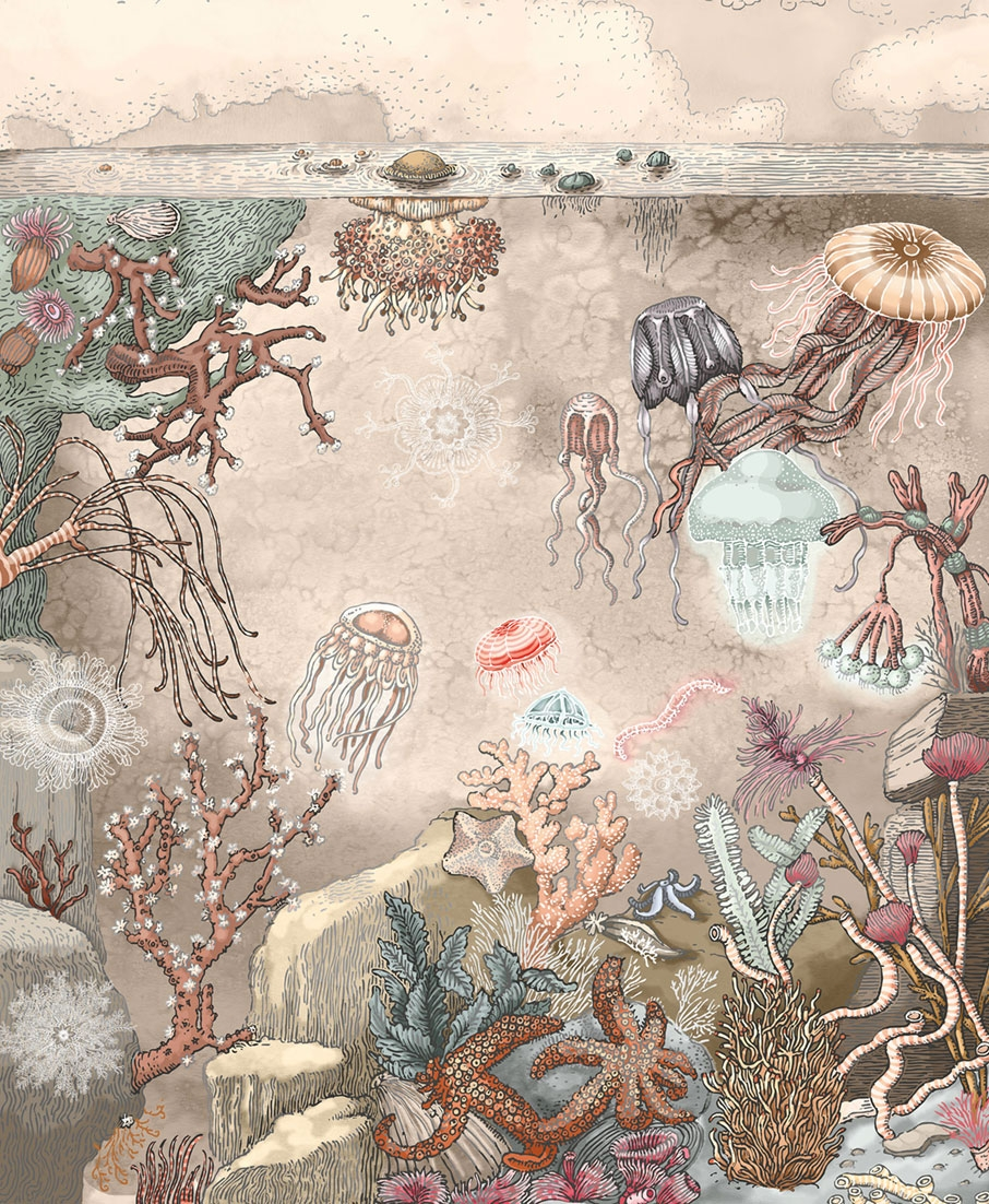 Vlies mural wallpaper Under water A, 230x280cm, Imaginum, Vavex