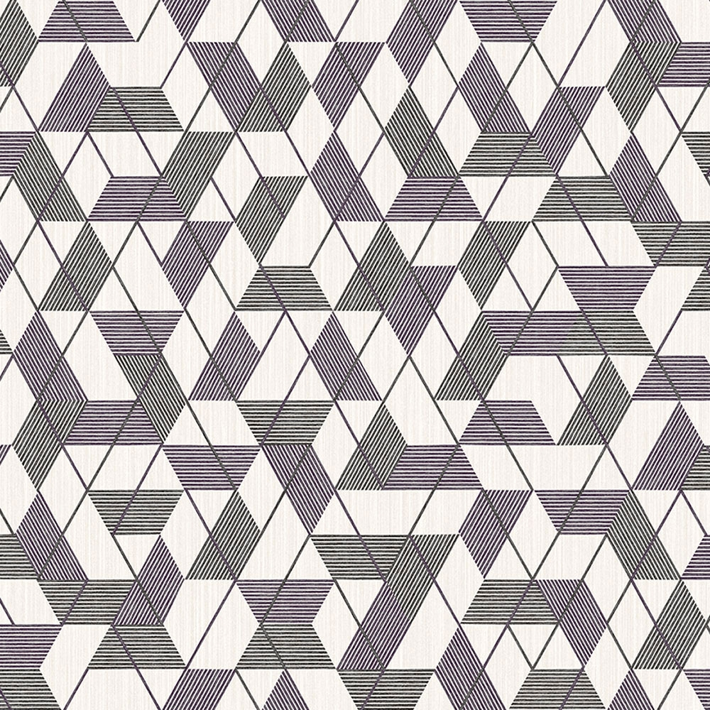 Non-woven wallpaper for wall with geometric pattern 8508-4, Vavex 2021