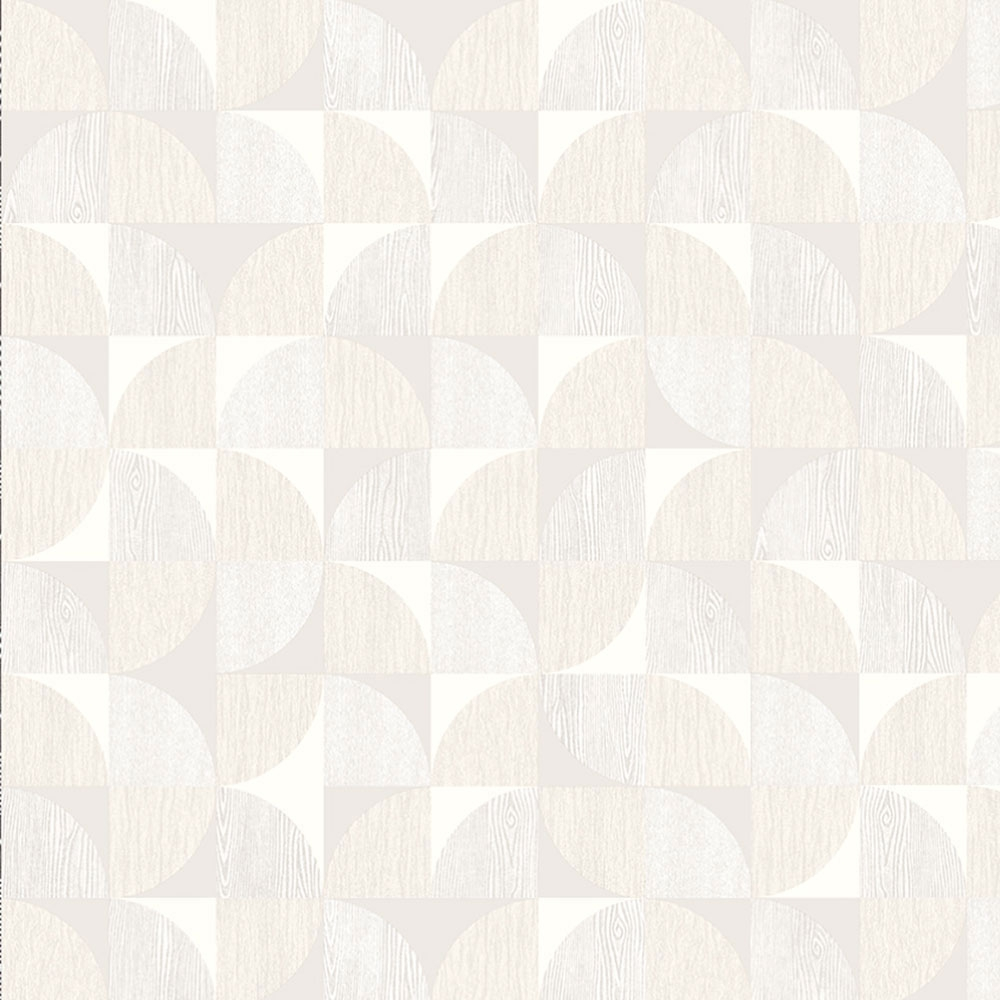 Creamy non-woven wallpaper for wall with geometric pattern,  8511-1, Vavex 2021