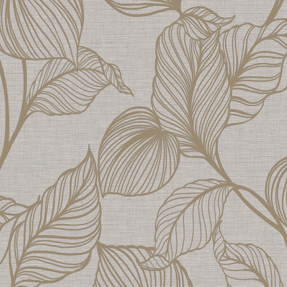 Non-woven wallpaper Leaves, wallpaper with a vinyl surface 111298, Jewel, Graham & Brown, Botanica, Vavex